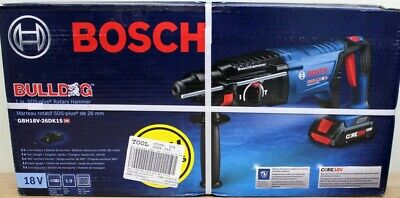 Bosch Bulldog Core 18v 1 Sds-plus Rotary Hammer Drill Battery Charger Gbh18v