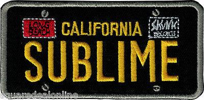 9582 Sublime California License Plate Badge LBC LBDAS Punk Ska Sew Iron On Patch