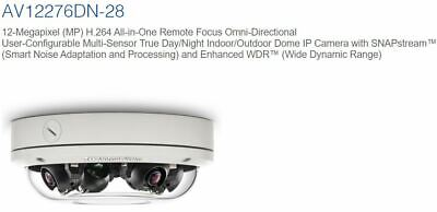Arecont Av12276dn-28 12-megapixel Mp H.264 Omni-directional