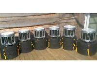 Six matching Premier HTS700 snare drums for sale
