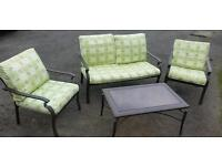 4 piece conservatory furnature set chairs table metal framed