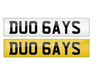 Two gays number plate for sale