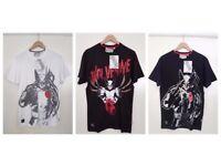 3 FOR £11 | Mens Black Wolverine Marvel Extreme T-Shirts | X-Men Comic Book Graphic Novel Fashion