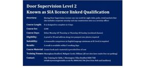 SIA licence linked Course and Training Security Officer Qualification in Bradford, Leeds & Oldham