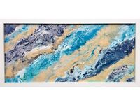PAINTING CANVAS ABSTRACT FRAMED ORIGINAL ARTWORK