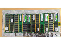 12 sticks of RAM - Various makes and sizes