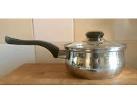 Small Metal Saucepan with Glass Lid
