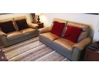 2 Twin Seater Leather Settees