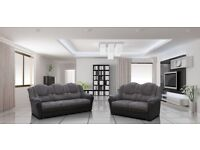 FREE DELIVERY**REDUCED BY 50% RRP**BRAND NEW LEATHER OR FABRIC SOFA SETS, CORNER SOFAS, ARM CHAIRS