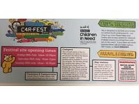 Price much less than face value - Carfest North Children in Need near Chester - 3 day tickets