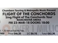 Two Flight of the Conchords Tickets -23 Mar 18 - Manchester Arena