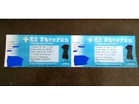 Ed Sheehan Divide Tour (2) Two Standing Concert Tickets Nottingham Motorpoint Arena 25/04/17