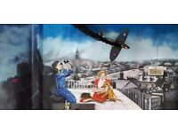 Graffiti, mural, airbrush artist in NW London