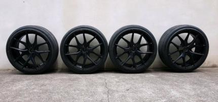 Avant Garde M310 Matte Black Rims x4 - Bolt Pattern 5x100