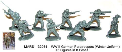 32034 Mars 1/32 WWII German Paratroopers (Winter Uniform)  toy soldiers 15 in 8