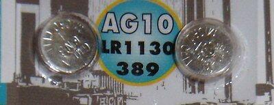 Pile TURBOCAR  de 1,5 volts  AG10 lr1130/389 microcel G10-A CNB, 2 pièces.