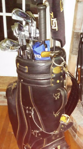 MIZUNO TOUR IRONS AND PING DRIVER WITH BAG