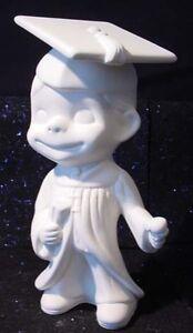 Ceramic greenware mold - Large Smiley / Happy Boy Graduate