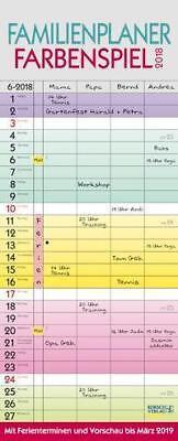 Familienplaner Farbenspiel 2018 / Kalender