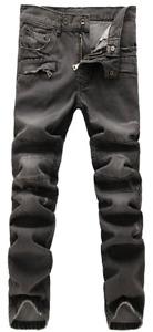 Balmain Black Distressed Denim Biker Jeans - Size 36