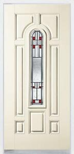 Durabuilt Decorative Glass Fibreglass Exterior Entry Door with Sedona Art Glass - We have a large selection of Doors!!