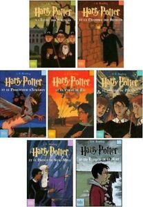 Collection book Livre Harry potter tome 1 2 4 6 7