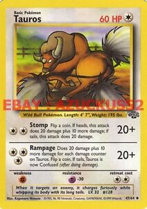 Tauros #47 Pokemon Jungle Set TCG Card