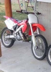 Cr 125 new motor, trade for 250cc