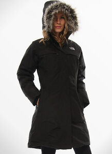 AUTHENTIC LADIES BLACK HOODED NORTH FACE PARKA SIZE M