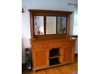 Lovely mirrored sideboard with corinthian column detail Comes in 2 parts for easier transportation
