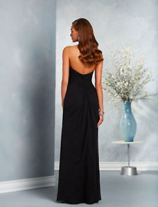 Long, Black Strapless Dress