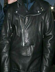 Diesel black gold runway leather jacket