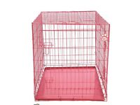 "Pink cosypet 30"" metal mesh crate training bed suitable for small dog/kitten/cat/rabbit"