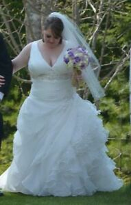 Wedding Dress for Sale- Around a size 12-14- Perfect condition