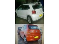 2011 MK5 VW POLO 6R 1.4 PETROL DSG AND 1.2 PETROL IN WHITE AND RED BREAKING FOR PARTS