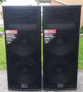 PAIR OF PEAVEY SP4 BLACK WIDOW 4000W SPEAKERS