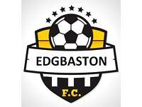 Edgbaston FC football Team in Birmingham looking for players