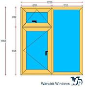 Oak Upvc Window