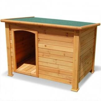 FREE SHIPPING - TIMBER DOG KENNEL (EXTRA LARGE) Carlton Melbourne City Preview