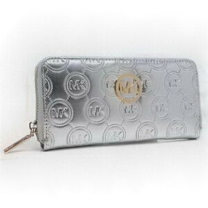 Jet Set Travel Metallic Leather Continental Wallet - Michael Kor