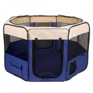 FREE SHIPPING - PORTABLE DOG PLAYPEN - BLUE Fortitude Valley Brisbane North East Preview