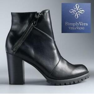 NEW CANARY ANKLE BOOTS WOMENS 8.5 3182021 244430568 SimplyVera Vera Wang High Heel Shoes Black