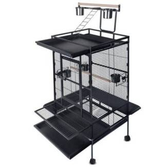 FREE SHIPPING - BIRD AVIARY WITH TOP PLAY (BLACK) Carlton Melbourne City Preview