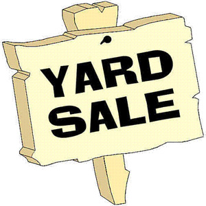 """HE'S OUT OF TOWN ""YARD SALE"
