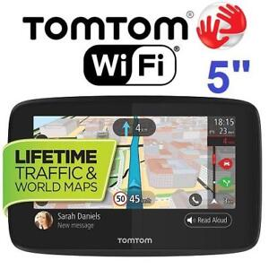"""OB TOMTOM GO 250 GPS NAVIGATOR 5"""" 5PN5.019.00 200906331 WITH WIFI CONNECTIVITY SMARTPHONE MESSAGING FREE WORLD MAPS O..."""