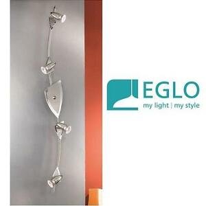 """NEW EGLO WAVE 4-LIGHT TRACK LIGHT 46"""" - 113627614 - 46""""W x 5""""H x 5""""D - Matte Nickel with Chrome Accents"""