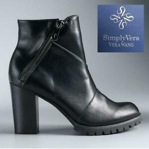 NEW CANARY ANKLE BOOTS WOMENS 7.5 3182021 244428572 SimplyVera Vera Wang High Heel Shoes Black