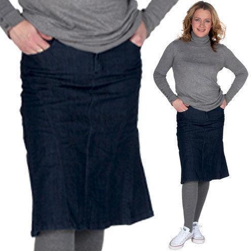 calf length denim skirt ebay