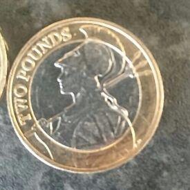2 pound coins