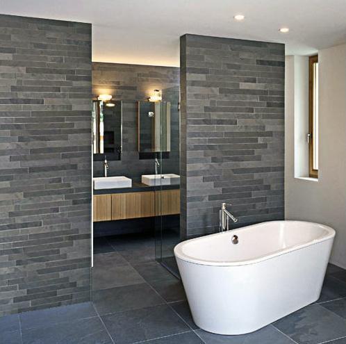 ≥ badkamerwand / wandstrips / steenstrips / tegel natuursteen ...